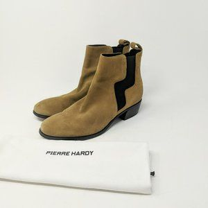 Pierre Hardy Gypsy Tan Suede Ankle Boots